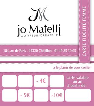 Carte De Fidelite Coiffeur Chatillon 92 Jomatelli Coiffeur Createur